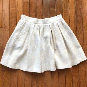 Zara Woman Brogue Ivory Skirt